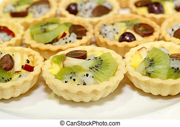 fruit tart on buffet line