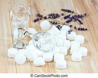 Pile of softener salt pellets - Good for environment...