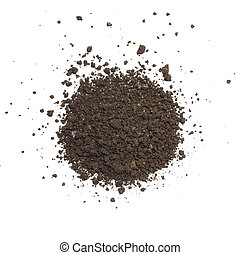 soil isolated on white background