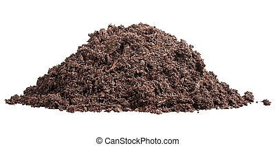 Pile of soil - mound of fertile soil for planting