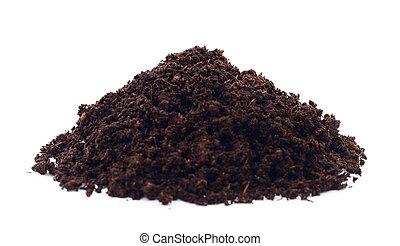 Pile of soil.