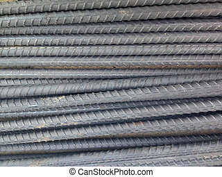 Pile Of Steel Bar