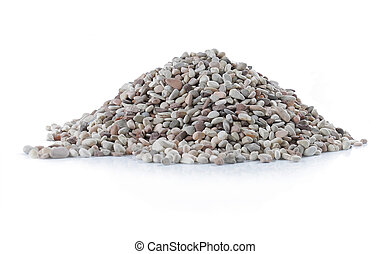 pile of stone over white background