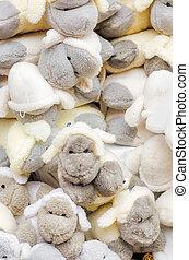 Sheep toys background