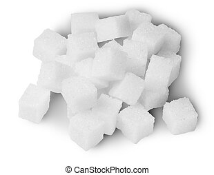 Pile Of Sugar Cubes On Top