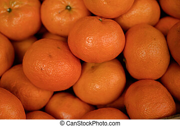 Pile of Tangerines Close Up