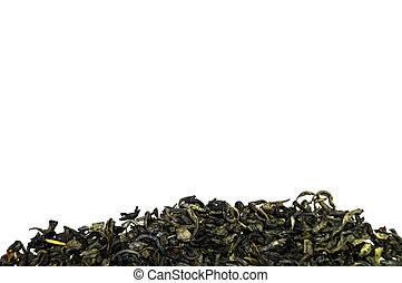 Pile of tea isolated on white background