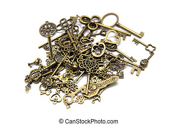 Pile of the old keys