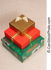 Pile of three gift boxes
