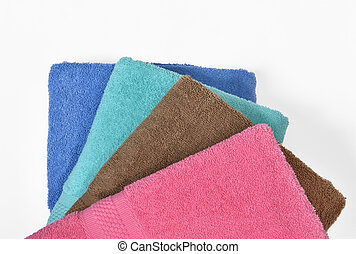 Pile of tidy folded towels