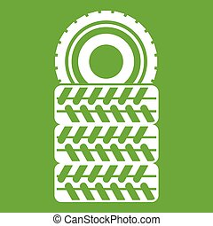 Pile of tires icon green