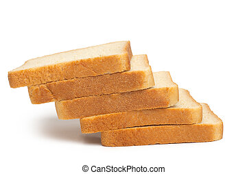 pile of toasted bread slices
