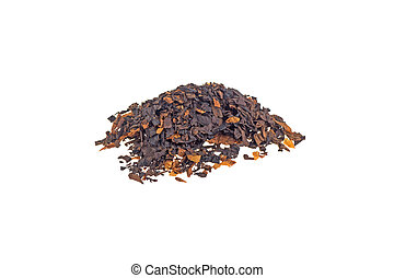 pile of tobacco isolated on white background