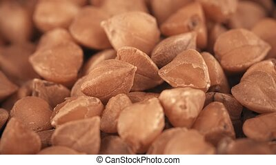 Pile of buckwheat, super macro shot