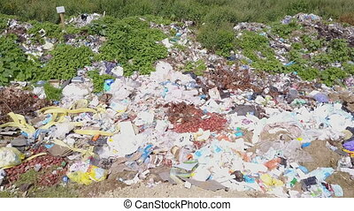 pile of various rubbish - a pile of various garbage in the...