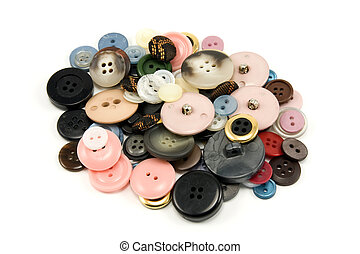 pile of various sewing buttons