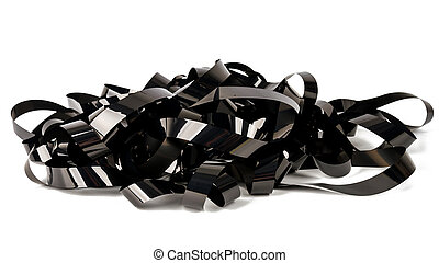 Pile of video tape