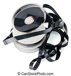 Pile of videotape reels