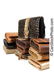 Pile of wallets | Isolated