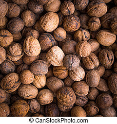 Pile of walnuts