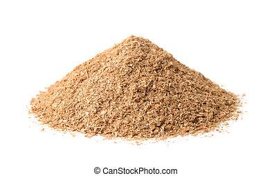 Pile of wheat bran