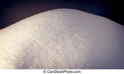 Pile Of White Sugar Rotating