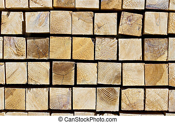 Pile of wood as background