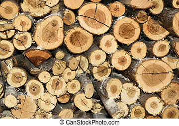 Pile of wood fire texture background