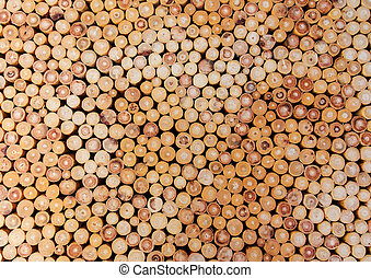 Pile of wood logs  for the background.