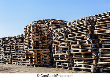 Pile of wooden pallet