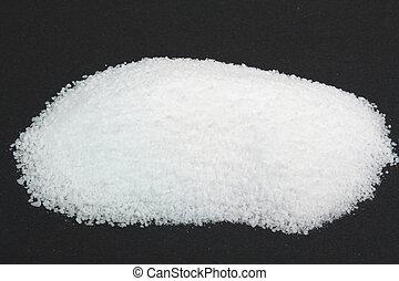 Pile Pickling Salt over black. - Picture of Pile Pickling...