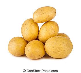 pile, pomme terre