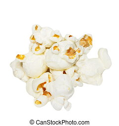 pile popcorn isolated on white
