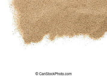 pile sand isolated on white