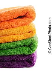 pile, serviettes, isolé