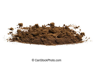 pile soil isolated on white