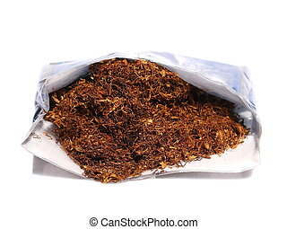 pile tobacco isolated on white
