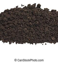 pile wet soil isolated on white