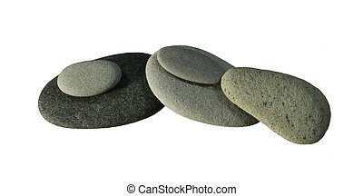 piled smooth gray pebbles