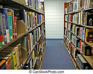 piles, bibliothèque