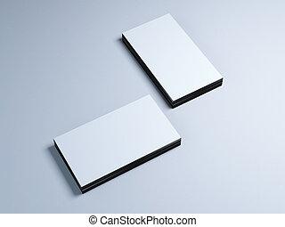 piles, cartes, deux, business