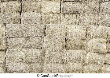 Piles of straw