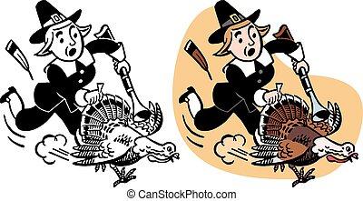Pilgrim Chasing Turkey