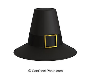 Pilgrim hat - A render of an isolated pilgrim hat