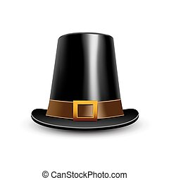 Pilgrim hat. Thanksgiving symbol. - Pilgrim hat....