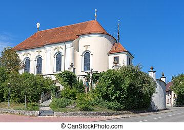 Catholic pilgrimage church St. Anna in Haigerloch, Baden-Wuerttemberg, Germany