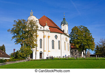 Pilgrimage Church of Wies is one of the word heritage sites in Germany. It is located in the municipality of Steingaden in southwest Bavaria.
