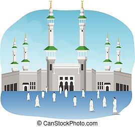 Pilgrimage In Front Of Masjidil Al Haram