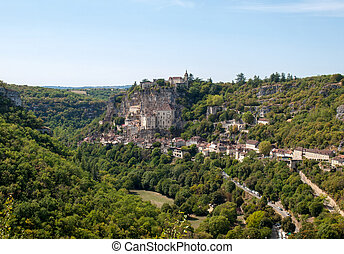 Pilgrimage town of Rocamadour, Episcopal city and sanctuary of the Blessed Virgin Mary, Lot, Midi-Pyrenees, France