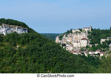 Pilgrimage village Rocamadour in the French Lot